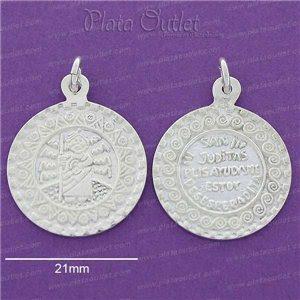 Medalla Plata San Judas Tadeo Caricatura Juditas Ayudame Estoy