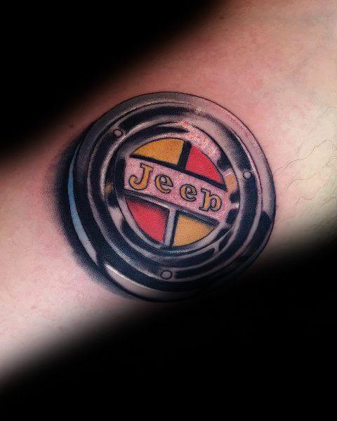 Tatuagens De Jipe Criativas Para O Logotipo Do Vintage