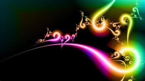 Full HD Wallpaper curve line neon shine rainbow, Desktop