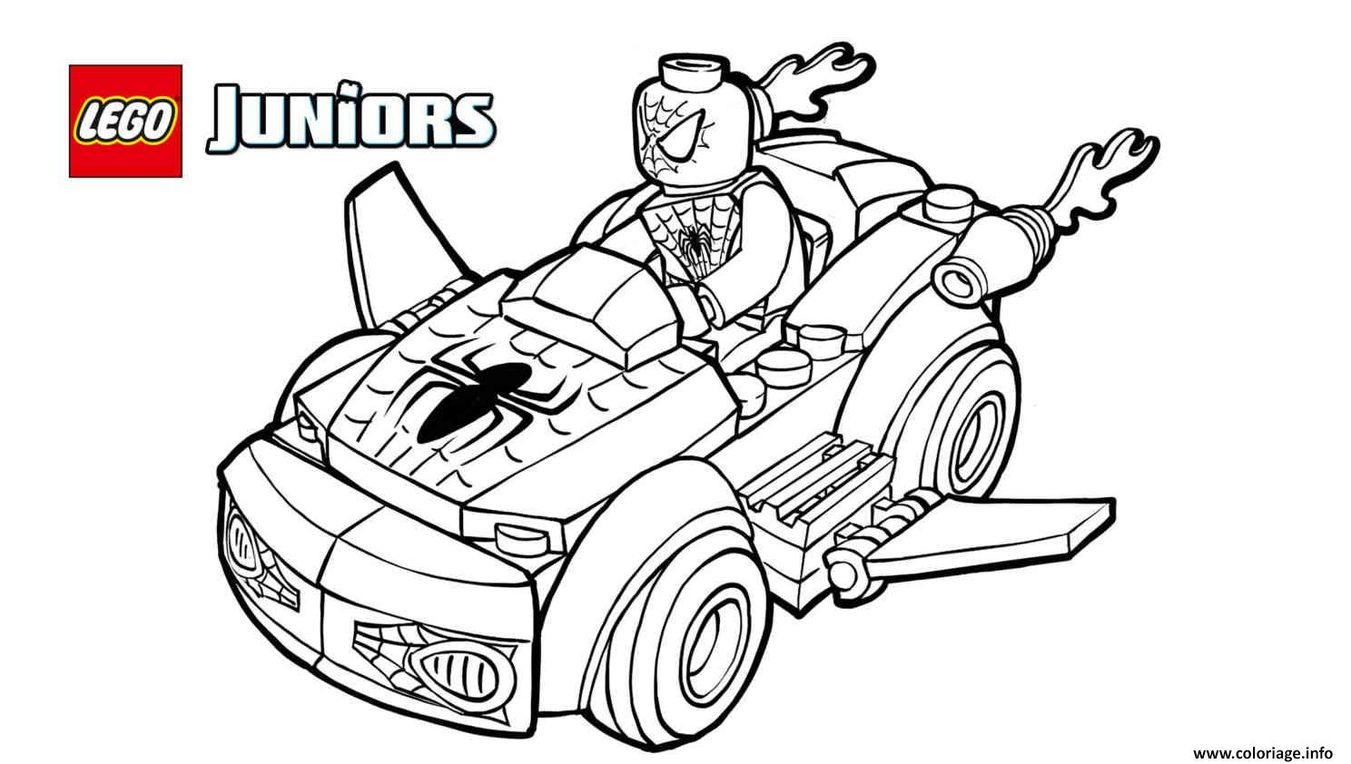 Coloriage Lego Spiderman 2 Voiture Lego Jecoloriecom