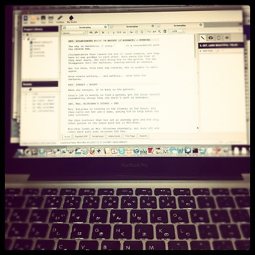 Clock struck 12, 41 minutes ago. My birthday. Nothing fancy, just working on a script.
