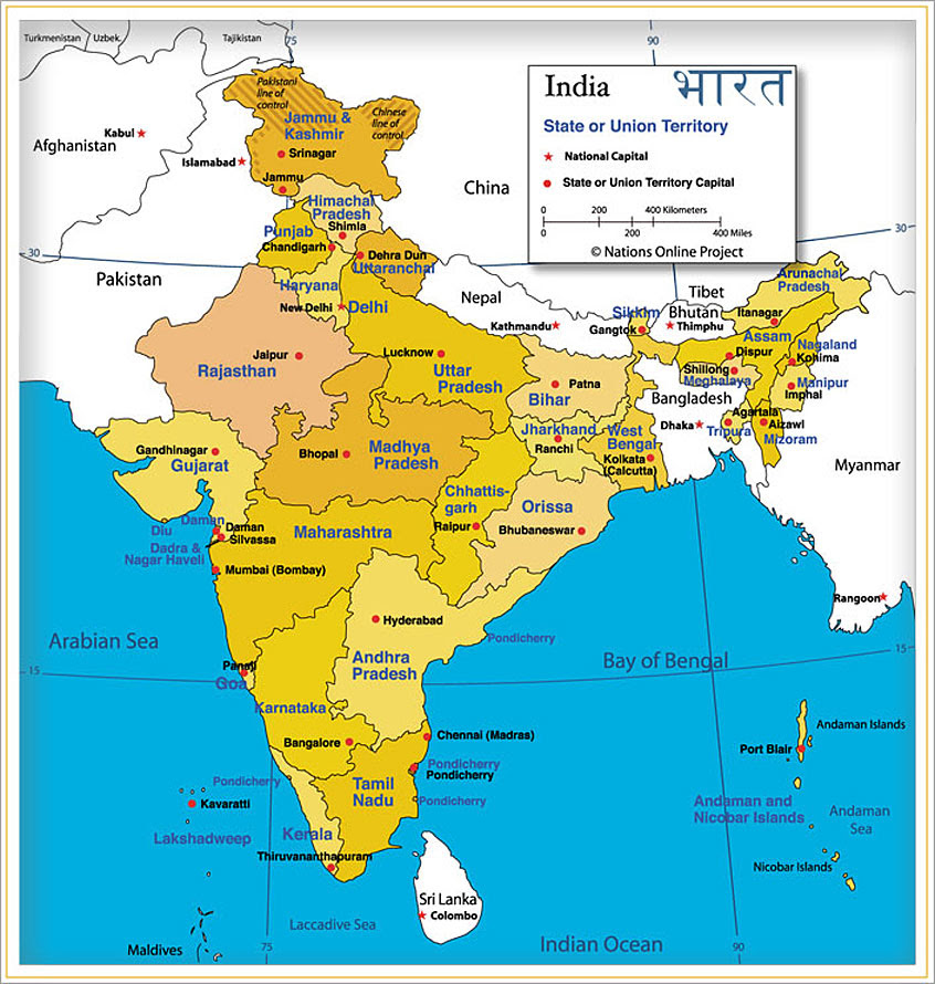 map of south asia and middle east