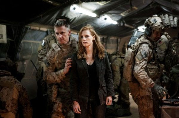 Maya is brought over to Osama bin Laden's corpse (off-screen) to provide visual confirmation in ZERO DARK THIRTY.