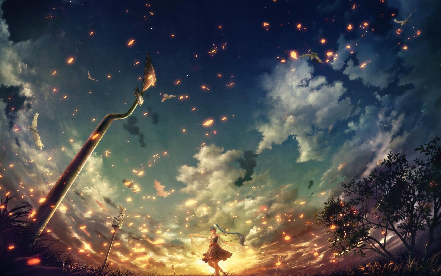 Anime - Vocaloid  - Hatsune - Miku - Papel De Parede - Idol Papel de Parede
