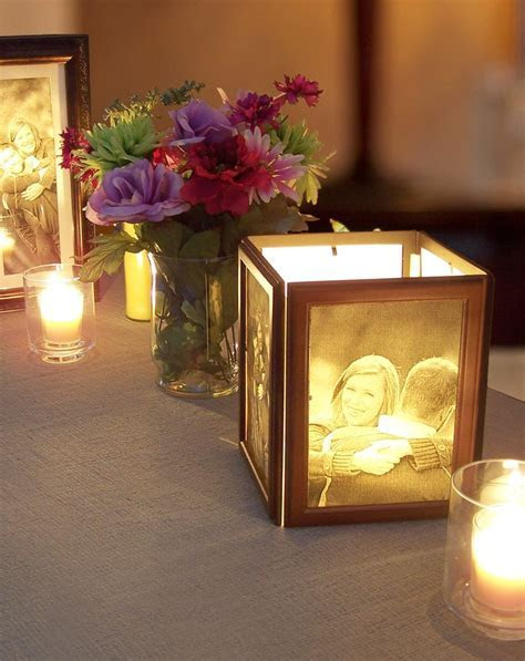 How to Make Photo Centerpieces with Candles   Party Ideas