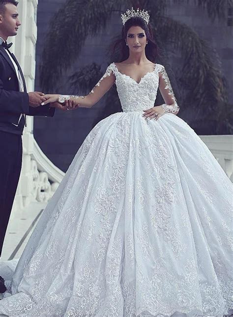long sleeve bridal gownscheap lace wedding dresses