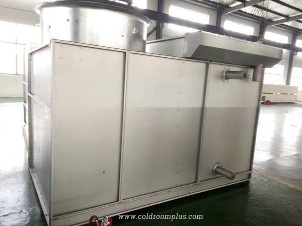 Evaporating cooled condenser