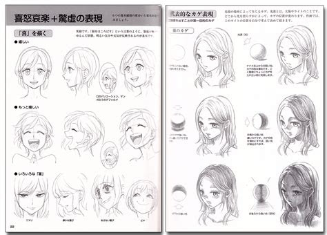 draw manga characters facial expressions drawing