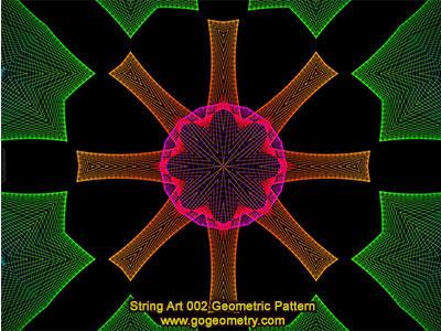 String Art 02: Bézier curves, Geometric Pattern, Symmetry, Software.