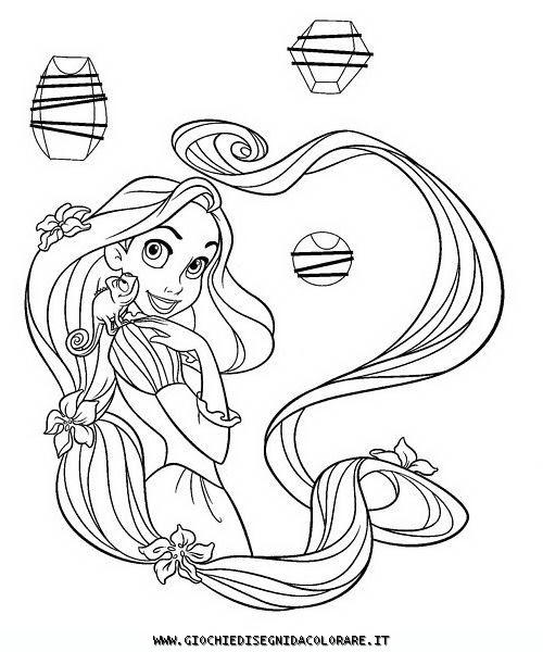 Miglior Collezione Disegni Da Colorare Rapunzel Lintreccio Della