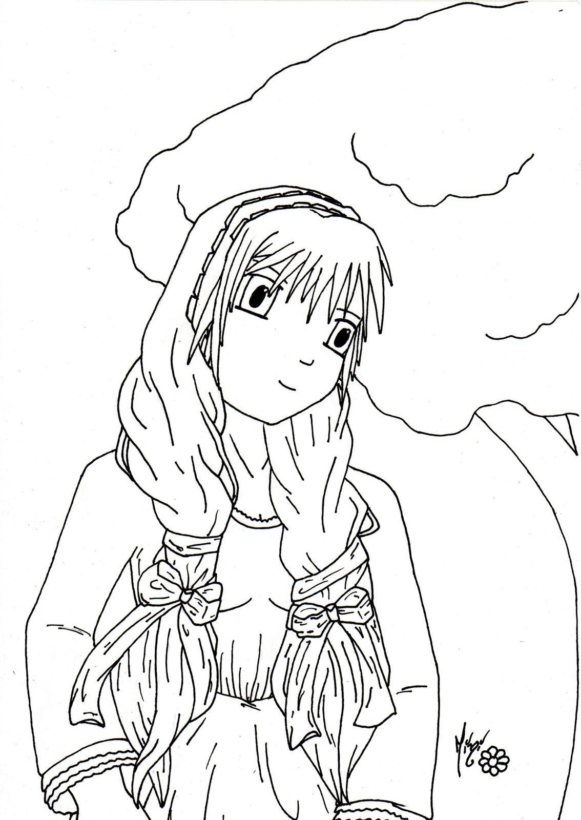 Jeune Fille Manga En Robe Le Petit Monde De Mini