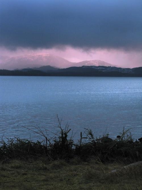 cloudy sunset in Kasaan Bay, Kasaan, Alaska