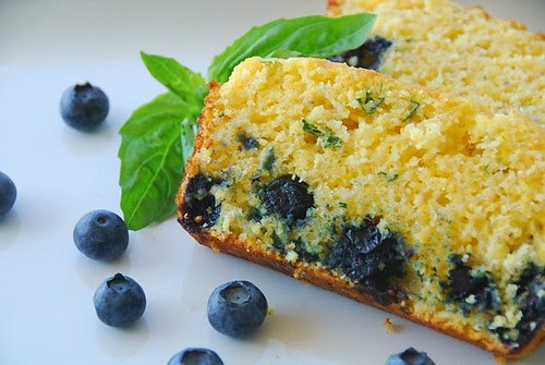 blueberry cornbread basil
