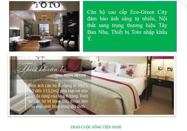 Thiết kế căn hộ Eco Green City