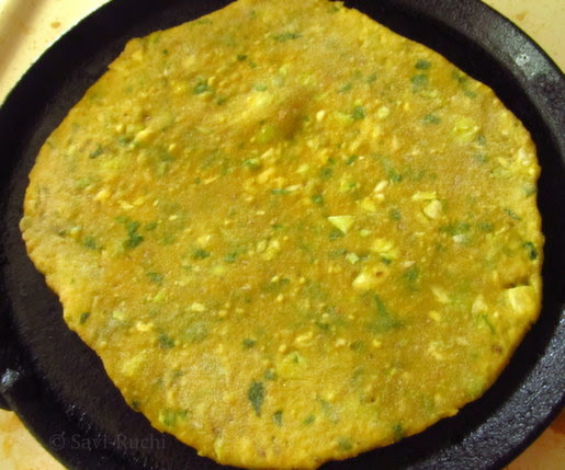 cabbage spinach paratha 2