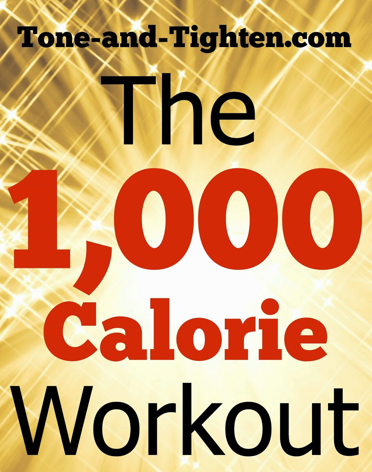 1000 Calorie At Home Workout | Tone and Tighten
