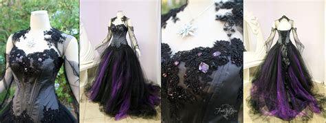 Halloween Wedding Dress by Lillyxandra female black grey