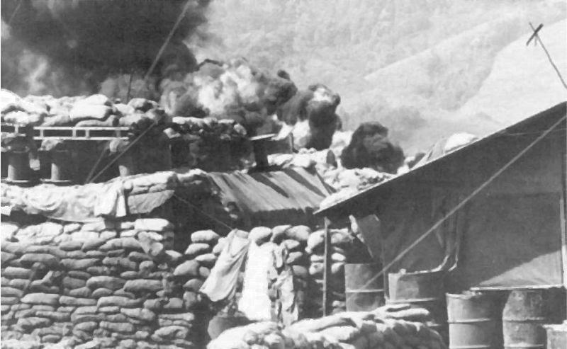 File:Khe Sanh Bunkers and burning Fuel Dump.jpg