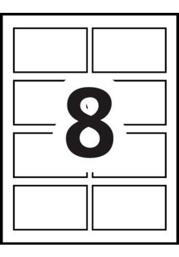 Avery® Self Adhesive Name Badges   15395   Template