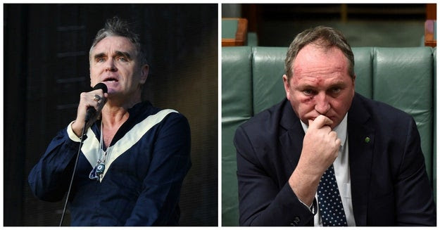 """Music legend Morrissey has penned a letter to deputy prime minister Barnaby Joyce urging him to close down the live cattle export industry's """"slow boat to hell""""."""