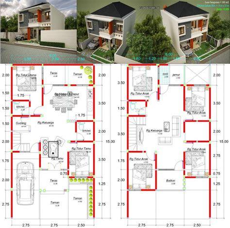 denah rumah lebar 8 meter | desain rumah minimalis