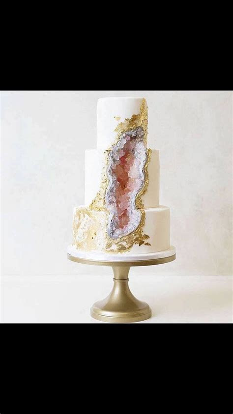 Spring wedding geo cake.   cakes in 2019   Big wedding