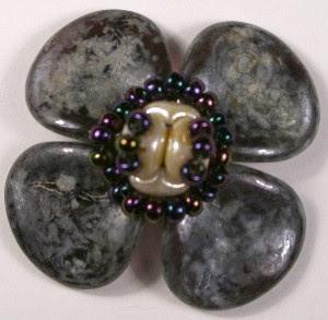 New Czech Rose Petal Beads