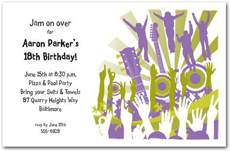 Concert Crowd Guitars & Speakers Party Invitations