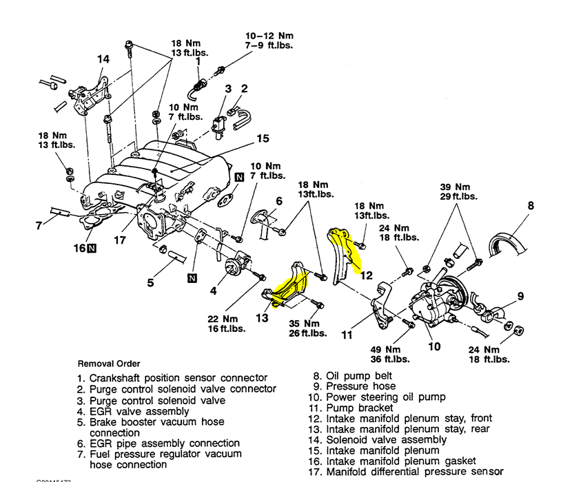 How to remove upper intake on 1998 diamante 3.5L v6 to get ...