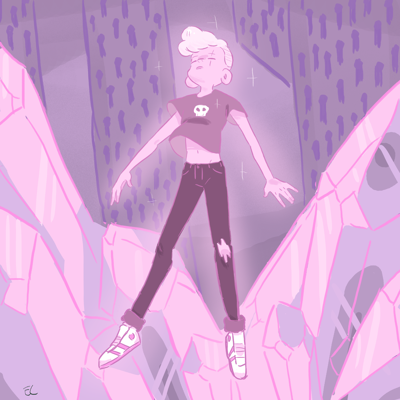 Fanart of that pink guy we all know and love