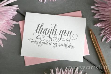 Wedding Thank You Note Card Set  Misc. Thank You For Being