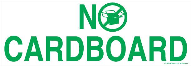 no cardboard