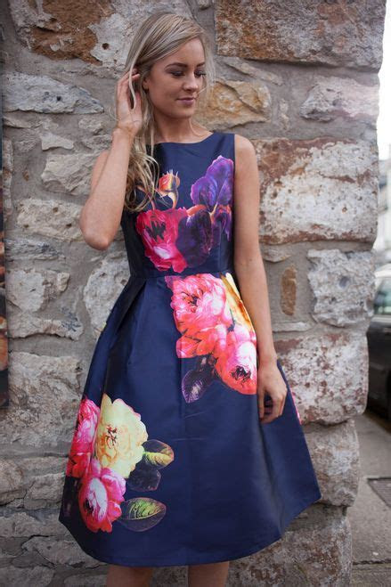 Navy Floral Skater Dress Ireland Spring Summer 2016