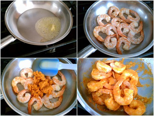 Prawns with Crab Fat