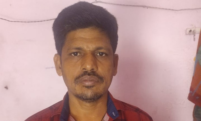 Harihar Pradhan, a resident of Brahmagiri in Puri, Odisha, was working at a textile factory in Surat before the lockdown was announced. Image courtesy: Sudarshan Chhotoray