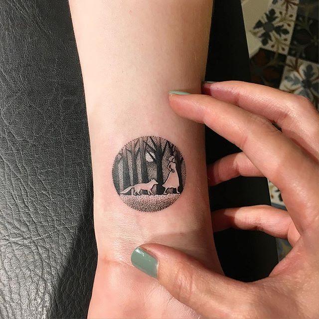 Circle Landscape Tattoo Tattoo Ideas T Landscape Tattoo