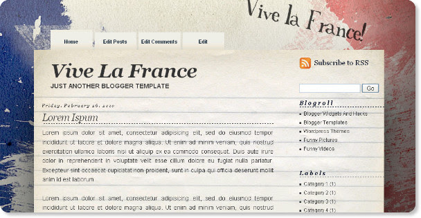 Best French Blogger Templates