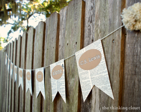 Book Page Banner Tutorial & Free Cut File   The Thinking Closet
