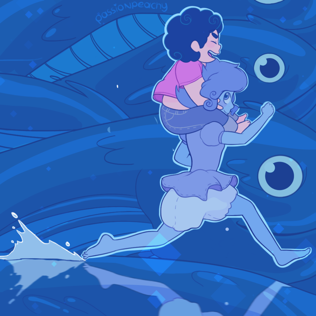 I realized the other day that nothing is stopping Lapis from reenacting that one Ponyo fish scene