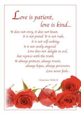 Love is Patient, Love is Kind quote is enhanced with a