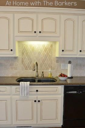 Chalk Painted Kitchen Cabinets Finishing Background