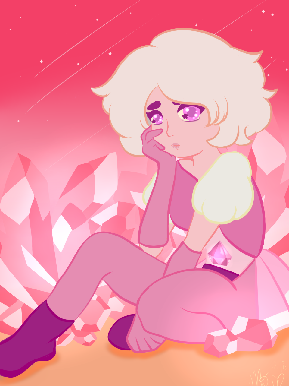 My derp drawing of Pink Diamond. Check out my speedpaint for some calming piano tunes and my overall process. https://www.youtube.com/watch?v=wshpDCBDNN8
