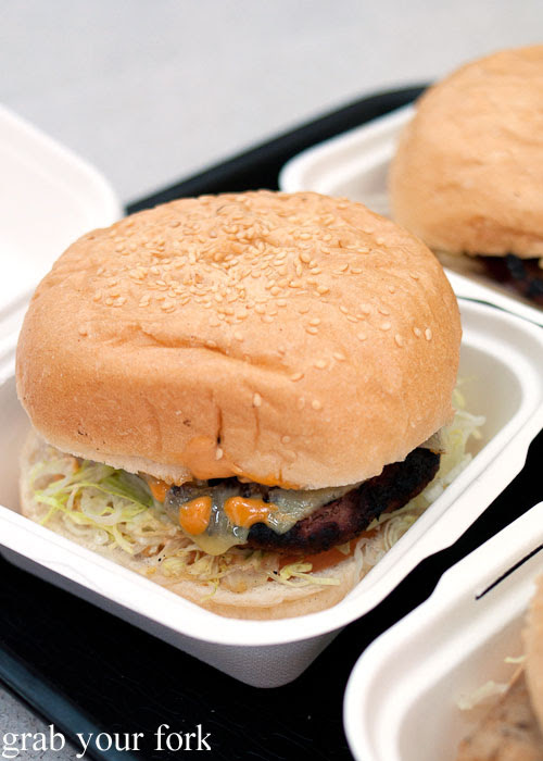 Alpaca burger with the lot