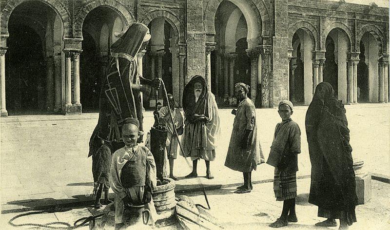 File:Wells - Mosque of Kairouan - Postcard 1900.jpg