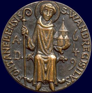 Saint Wandrille. Abbé à Fontenelle († 668)