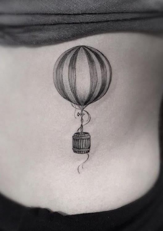 56 Romantic Hot Air Balloon Tattoos Tattoomagz