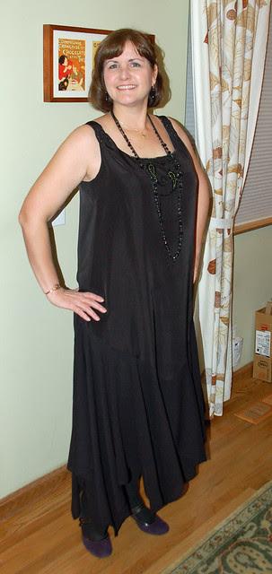 Wearing Monte Carlo dress