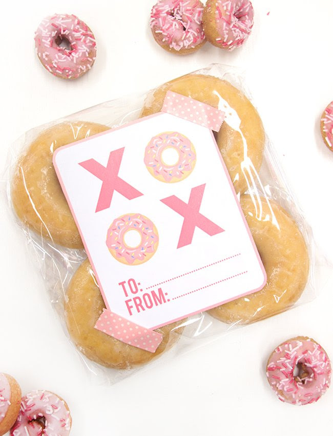 Free Valentine's Day Gift Tags - XOXO Donuts