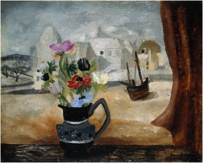 Christopher Wood - Anemones In A Cornish Window