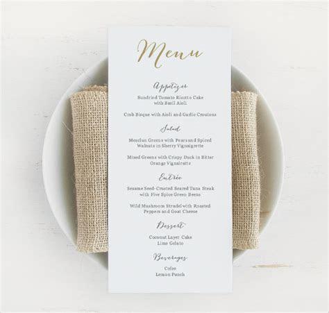 31 Wedding Menu Templates   Sample Templates